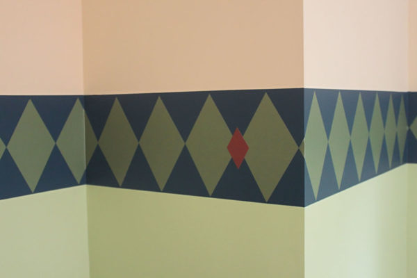 Diamond Pattern Border in Boy's Room