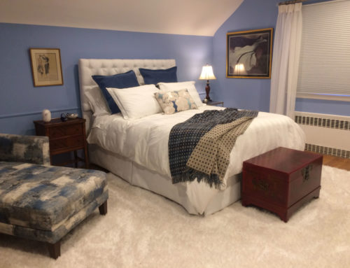 Blue and White Bedroom from Start to Finish
