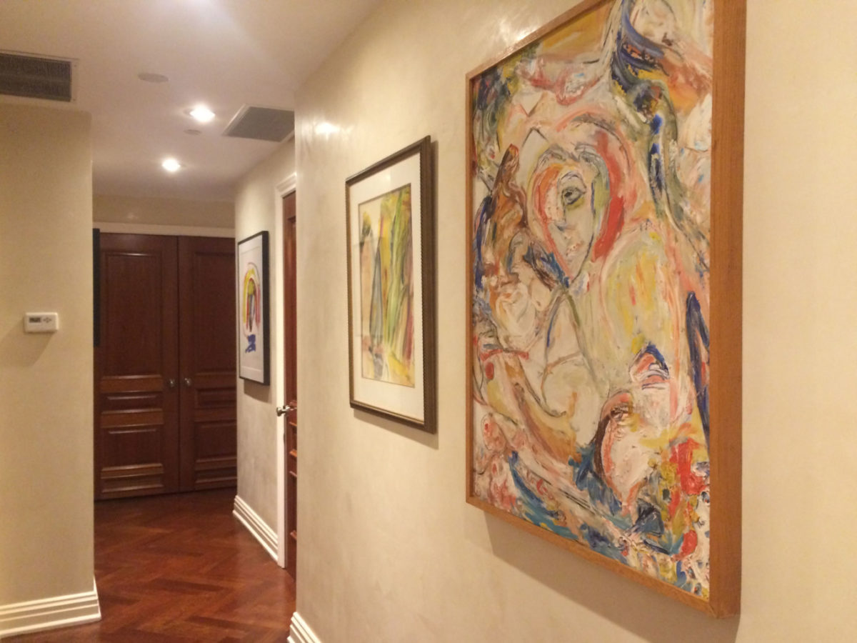 Hanging Art in Hallway