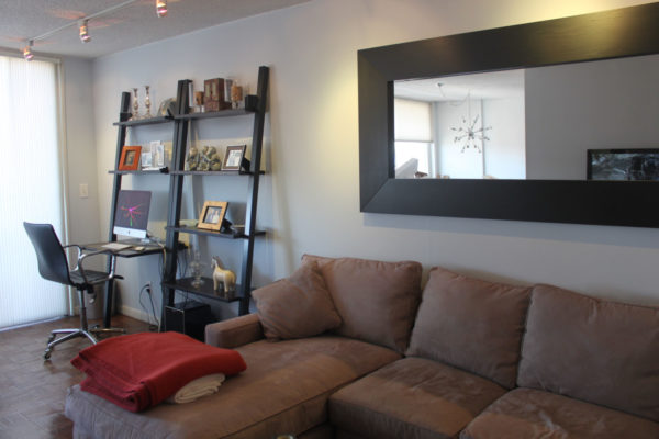 Gray Walls for Neutral Living Room with Black Accents