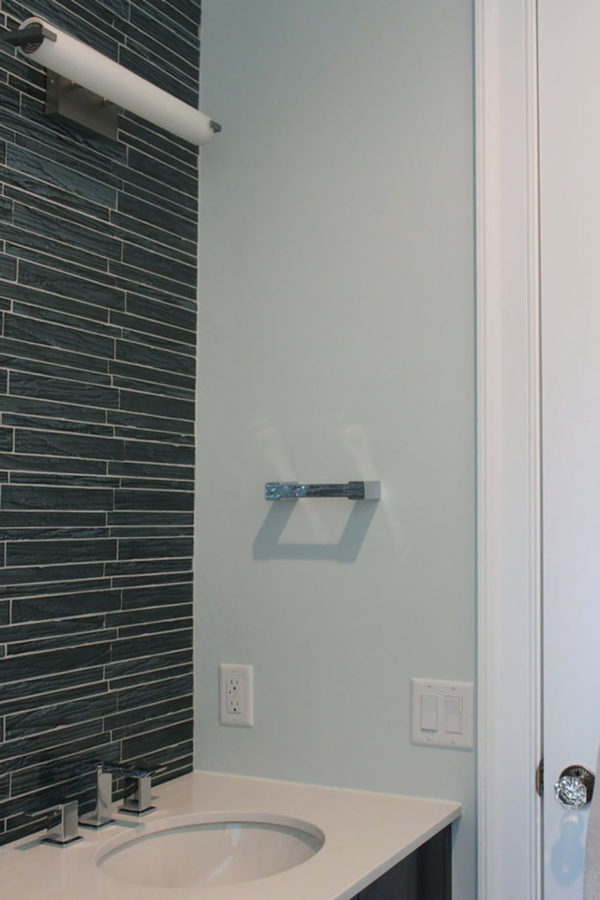 Light Blue/Green Bathroom