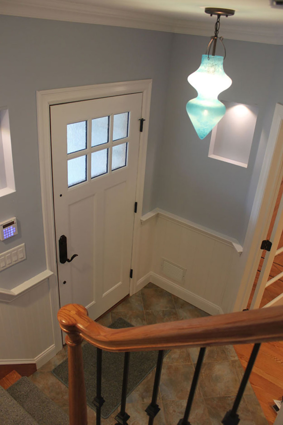 Light Blue with White Trim in Entrance Hall