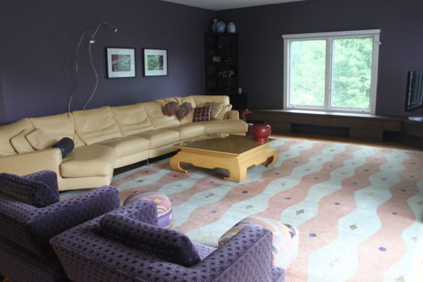 Purple Walls in Family Room