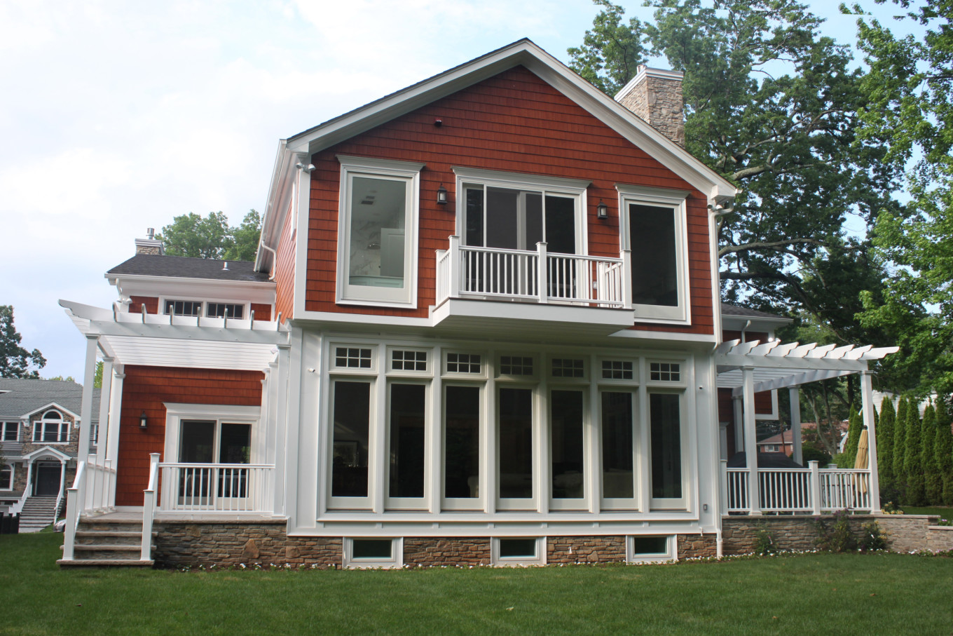 White Trim On Red House