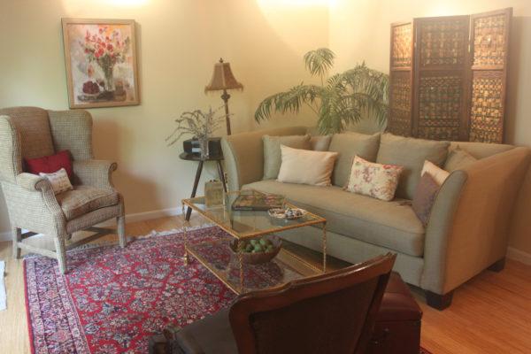 Sage Walls in Living Room