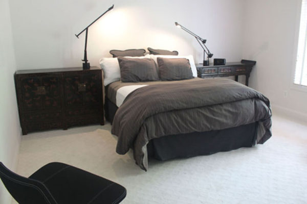 White Gray and Black Bedroom