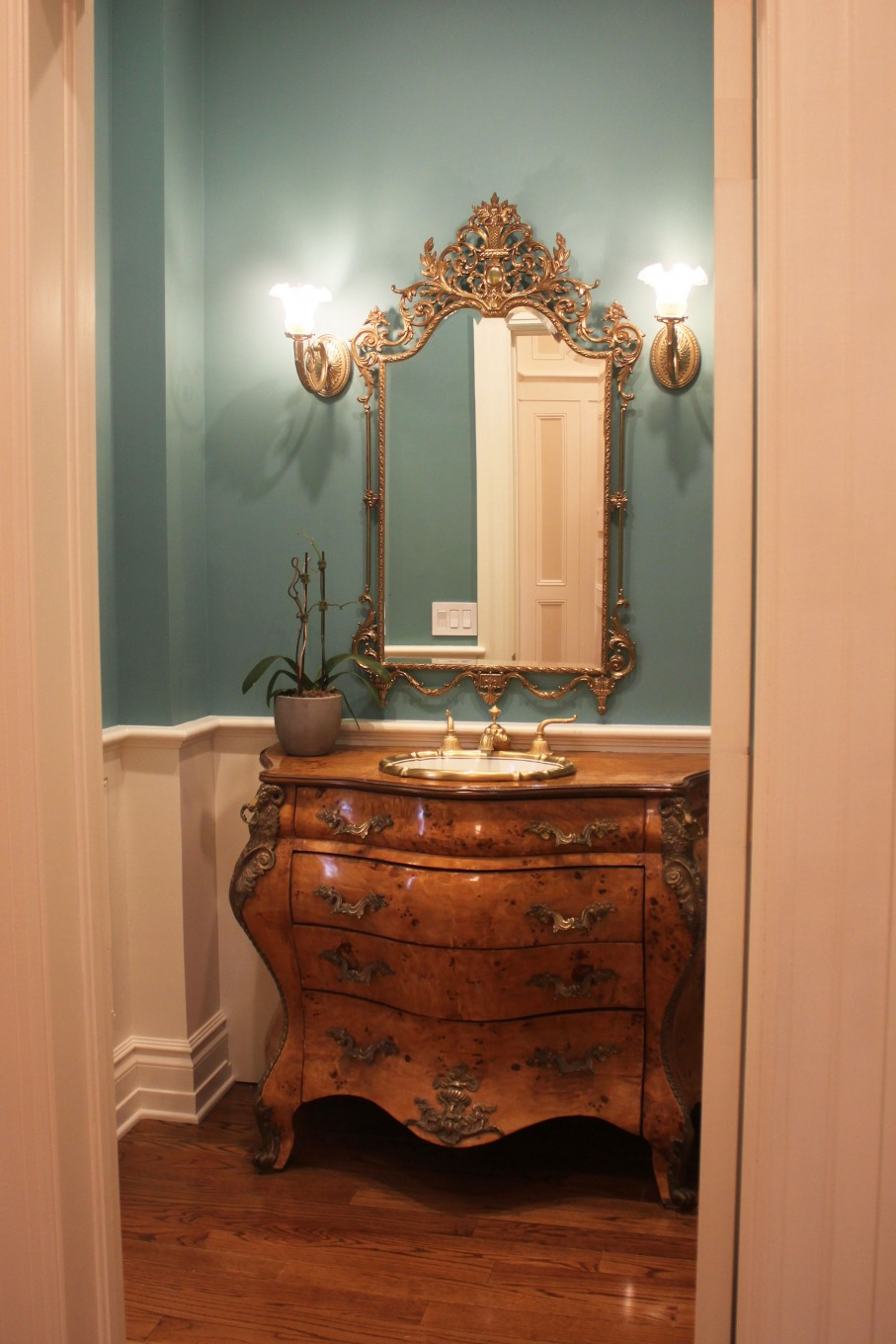 Green/Blue Powder Room