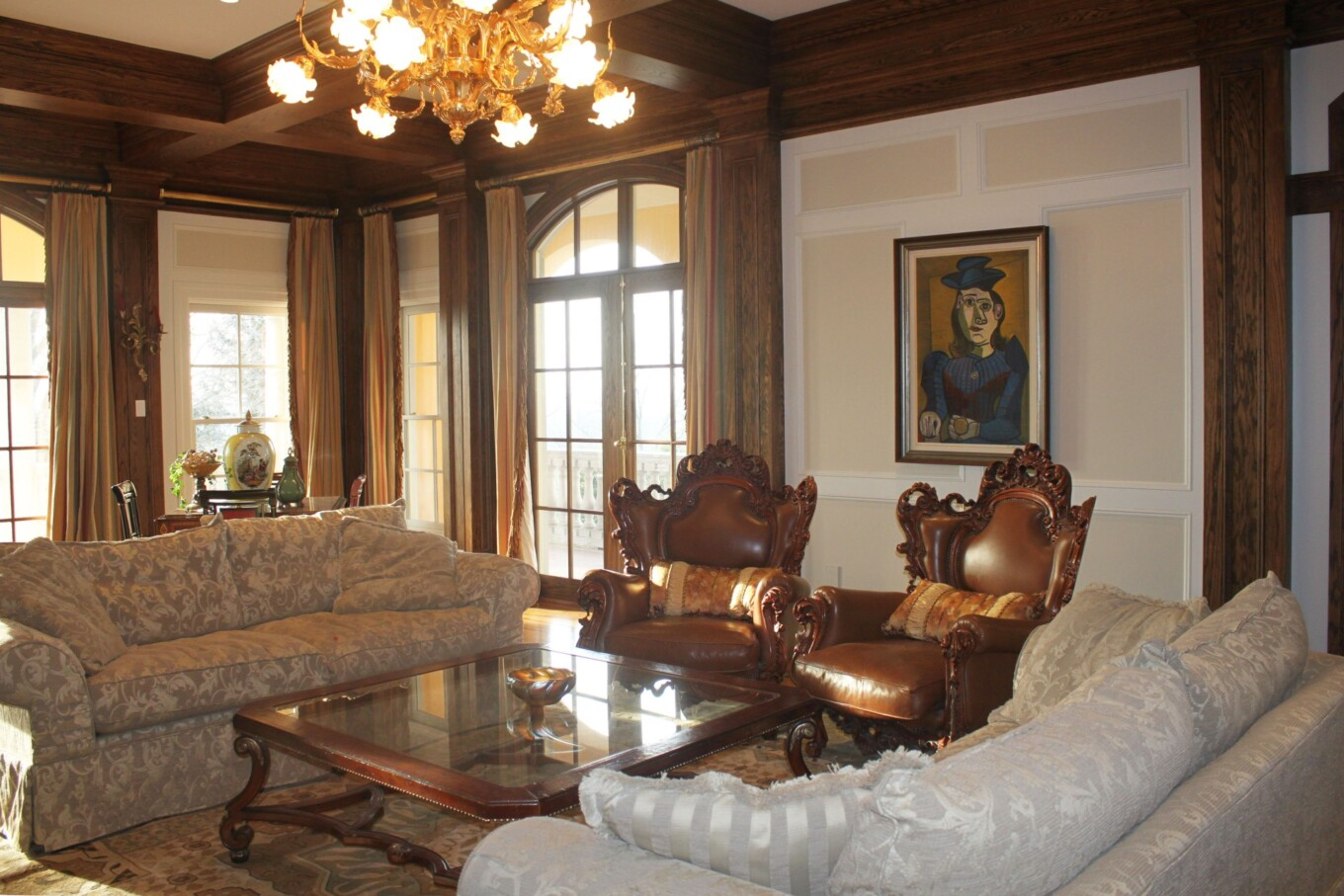 Paneled Living Room