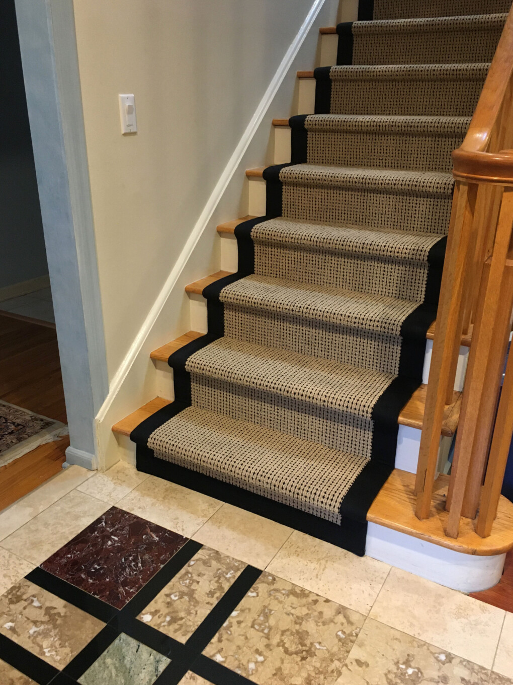 Bordered Carpet on Staircase